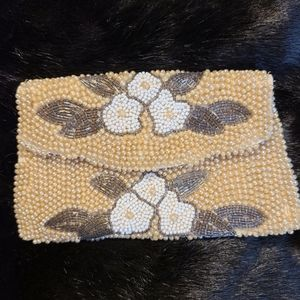 Vintage * made in Japan* beaded clutch with flaws